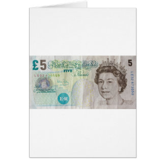 £5 note - horizontal card