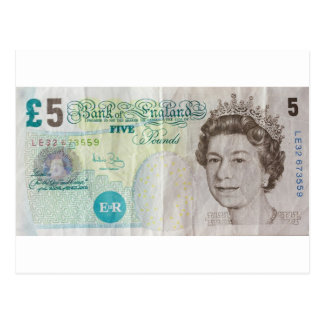 £5 note - horizontal postcard