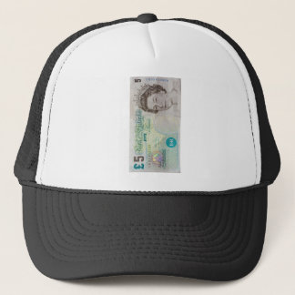 £5 note verticle trucker hat