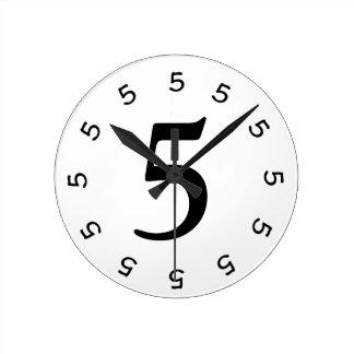 5 o clock Simple Wall Clock 2