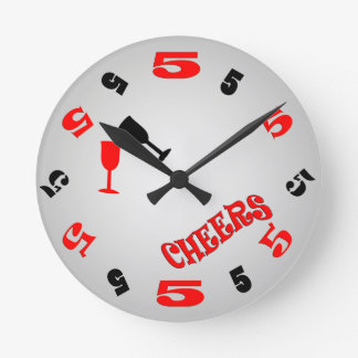 5 O'Clock Cheers Wall Clock