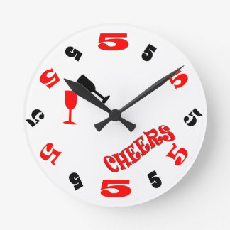 5 O'Clock Cheers Wall Clock (white)