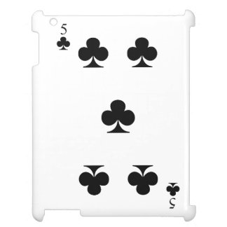 5 of Clubs iPad Cover