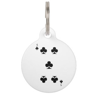 5 of Clubs Pet ID Tag