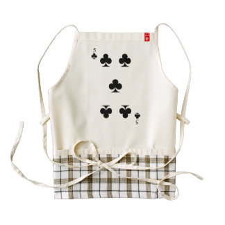 5 of Clubs Zazzle HEART Apron