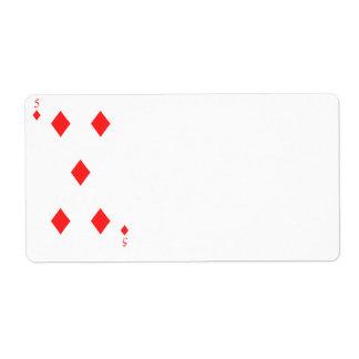 5 of Diamonds Label