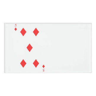 5 of Diamonds Name Tag