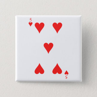 5 of Hearts Button