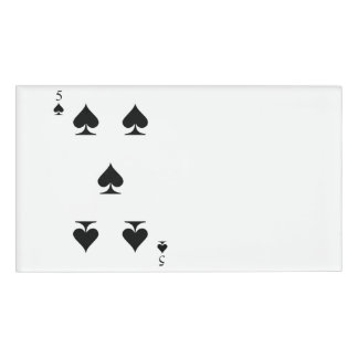 5 of Spades Name Tag
