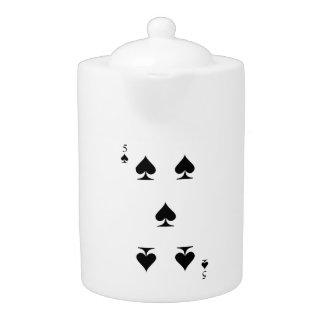 5 of Spades Teapot