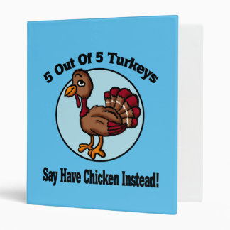 5 out of 5 Turkeys Design 3 Ring Binder
