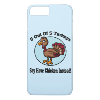 5 out of 5 Turkeys Design iPhone 7 Plus Case