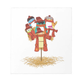 5 Owls and a Scarecrow Notepad