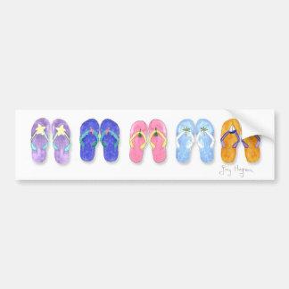5 Pairs of Flip-Flops Bumper Stickers
