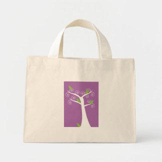 5 pájaros en un bolso del árbol bolsas de mano