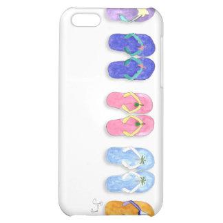 5 pares de caso del iPhone 4 de los flips-flopes