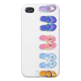 5 pares de caso del iPhone 4 de los flips-flopes iPhone 4 Coberturas