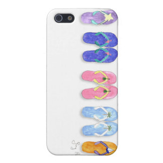 5 pares de caso del iPhone 4 de los flips-flopes iPhone 5 Cobertura