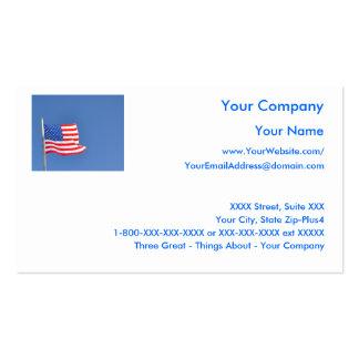 5 patrióticos - plantilla de la tarjeta de visita