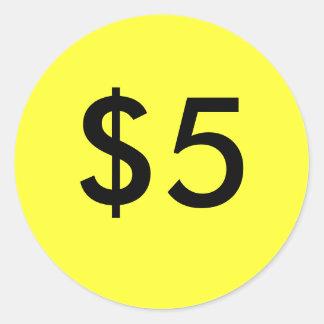 $5 PEGATINA REDONDA