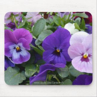 5 pensamientos púrpuras del azul de la lavanda tapete de ratón