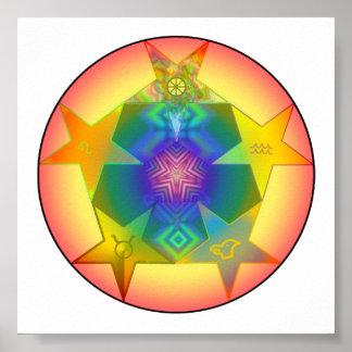 5 Pentacles Energy Balancing Sigil Poster