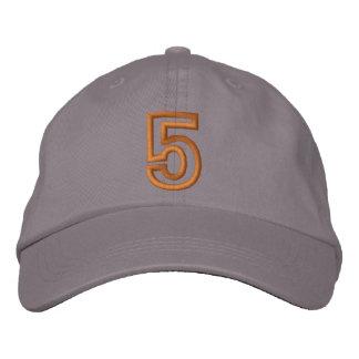 """""""5"""" pequeño número atlético gorra de béisbol bordada"""