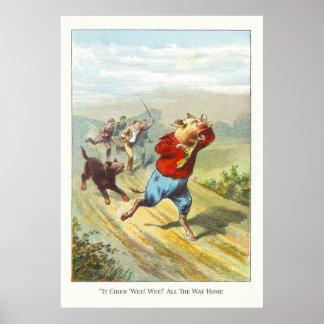 5 pequeños cerdos Lloró Wee pequenito Poster