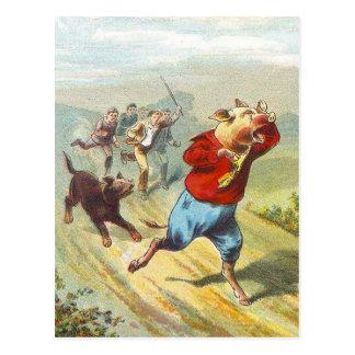 5 pequeños cerdos: Lloró Wee pequenito Tarjetas Postales