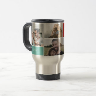5 Photo Collage Travel Mug