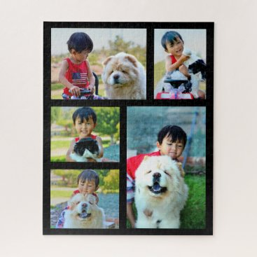 5 Photo Giant Customized Image Collage Jigsaw Puzzle