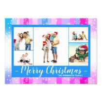 5 Photos Colorful Snow - Christmas Card