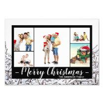 5 Photos Snow - 3x5 Christmas Card