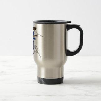 5 Piece Drum Kit - Blue - Coffee Mug - Travel Set