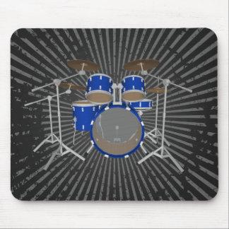 5 Piece Drum Kit - Blue Finish - Drums Mousepad