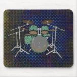 5 Piece Drum Kit - Custom Green Drums - Mousepad
