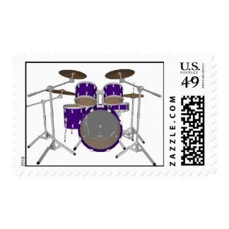 5 Piece Drum Kit: Custom Postage Stamps