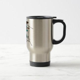 5 Piece Drum Kit - Green - Travel Mug - Drum Set