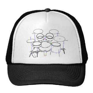 5 Piece Drum Kit: Marker Drawing: Trucker Hat
