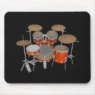 5 Piece Drum Kit - Orange Finish - Drums Mousepad