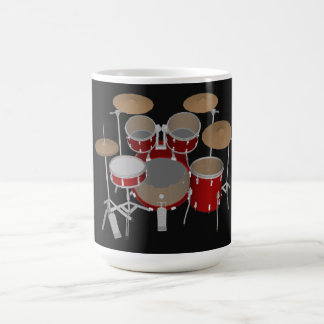 5 Piece Drum Kit - Red - Coffee Mug - Drum Set