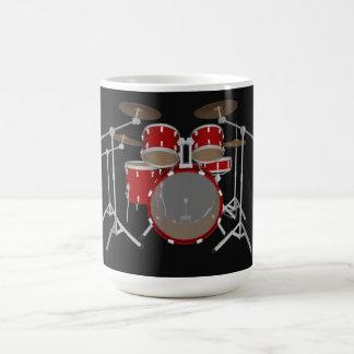 5 Piece Drum Kit - Red - Coffee Mug - Drum Set