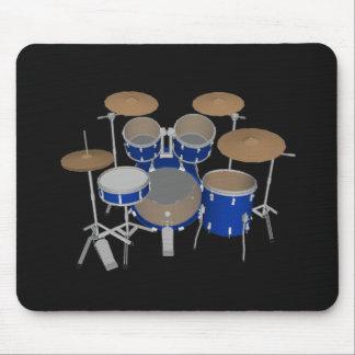 5 Piece Drum Set - Blue Finish - Black Mousepad
