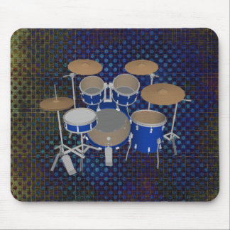 5 Piece Drum Set - Blue Finish - Mousepad