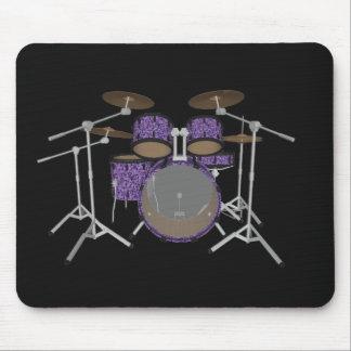 5 Piece Drum Set - Custom Violet Drums - Mousepad