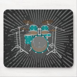 5 Piece Drum Set - Green Finish - Mousepad