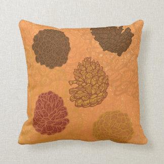 5 pinecones throw pillow