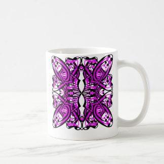 5 Pink Alternate Transparent Coffee Mugs