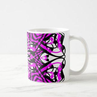 5 Pink Alternate Transparent Mugs