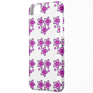 5 Pink bold flower in a pattern on phone case
